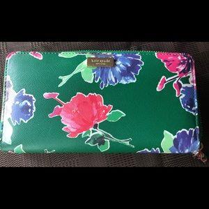 Kate Spade Grant Street Spring Bloom Zip Wallet